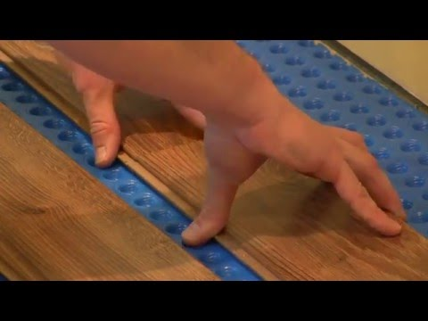 How To Install Drop And Lock Laminate Flooring Over 1 Step Subfloor