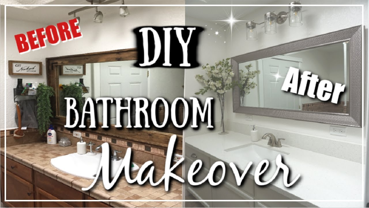 Diy Small Bathroom Makeover Before After Transformation Momma From Scratch Youtube