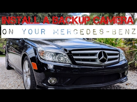 Install Backup Camera on Mercedes C-Class 2007- 2013 Early (2013 LATE & 2014 SEE NOTES*)
