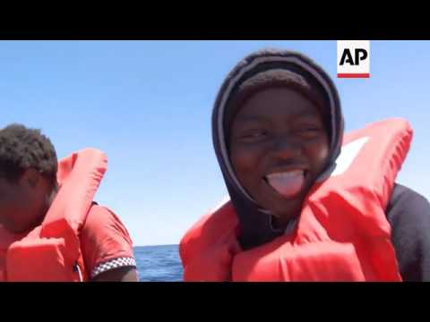 Migrants rescued on journey from Libya to Europe