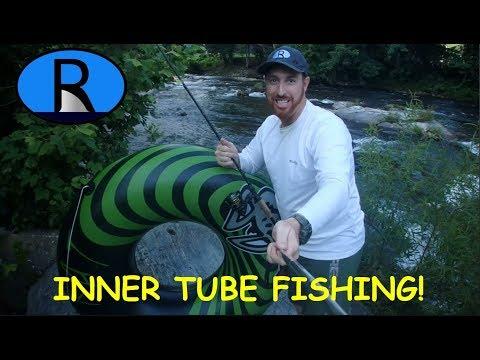 Fishing from an Inner Tube!