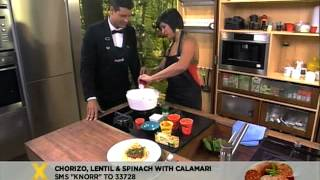 Knorr: Chorizo Lentils With Baby Spinach And Calamari (5.10.2012)