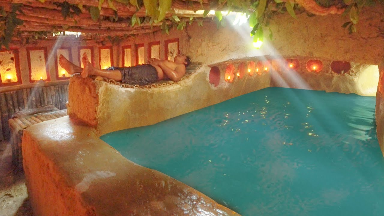 I Build Secret Temple Underground And Temple Tunnel Water Slide Swimming Pools