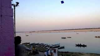 India Holiday 2013-03-30, Kite flying in Varanasi