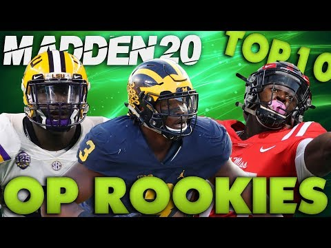 """Top 10 """"Overpowered"""" Rookies To Use In Madden 20 Franchise!"""