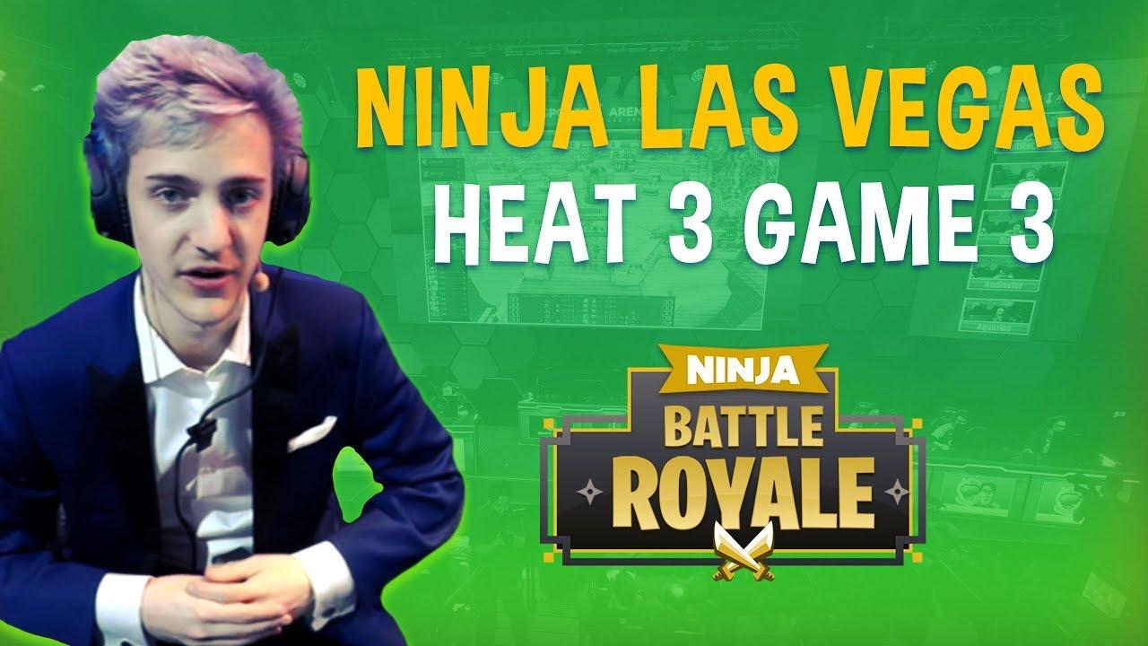 Ninja Las Vegas Heat 3 Game 3 - Fortnite Battle Royale Gameplay