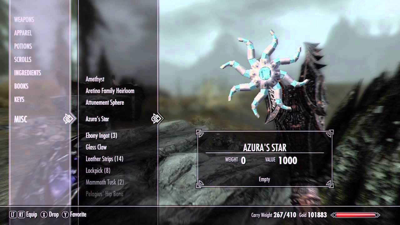 How to Charge Azura's Star in Skyrim (Grand Soul)