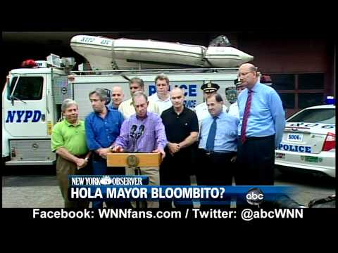 Hurricane Irene: Mayor Michael Bloomberg Speaks Spanish