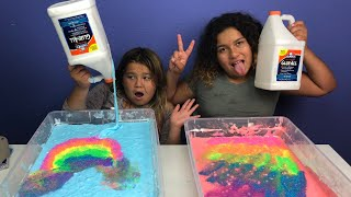 1 GALLON OF ELMER'S GLUE ALL VS 1 GALLON OF ELMER'S GLUE ALL- MAKING GIANT FLUFFY SLIME