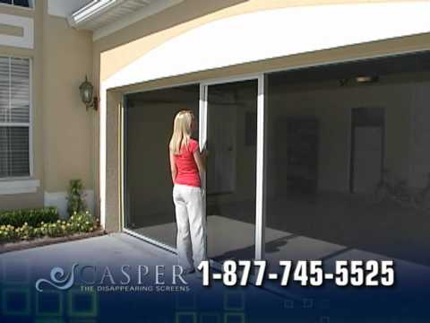 garage door screens retractableCasper Screens Garage Door Retractable Window Screens  YouTube