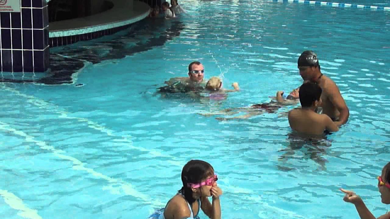 Swimming Lessons At Ramada Plaza Hotel Doha Youtube