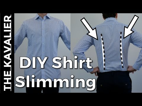 How To Slim Your Shirts With (Simple) Darts | DIY Tailor Series