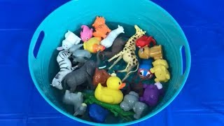 Learn Colors with Fun Zoo Animals Farm Animals Sea Animals