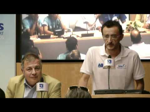Golden Arrival - Press conference Greek national aquatics team Shanghai 2011.mp4