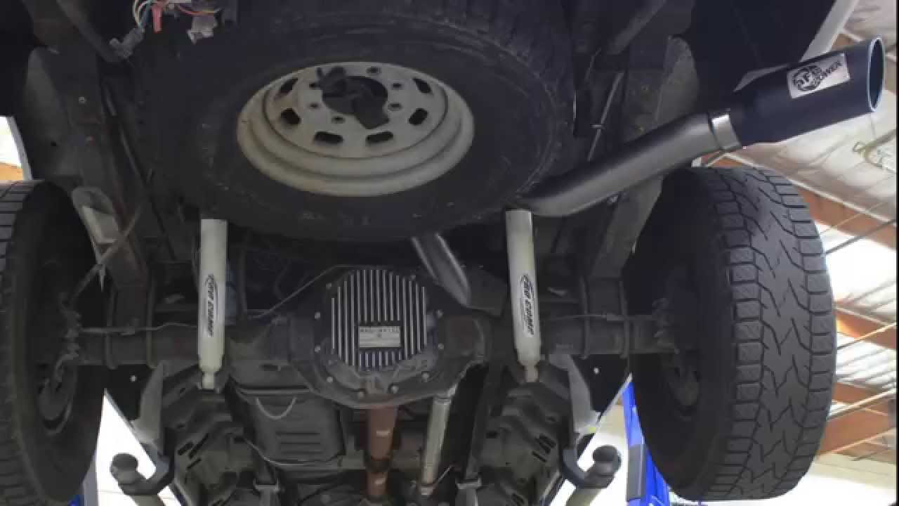 afe power 1999 2004 ford f 250 f 350 v8 5 4l v10 6 8l exhaust system sound clip