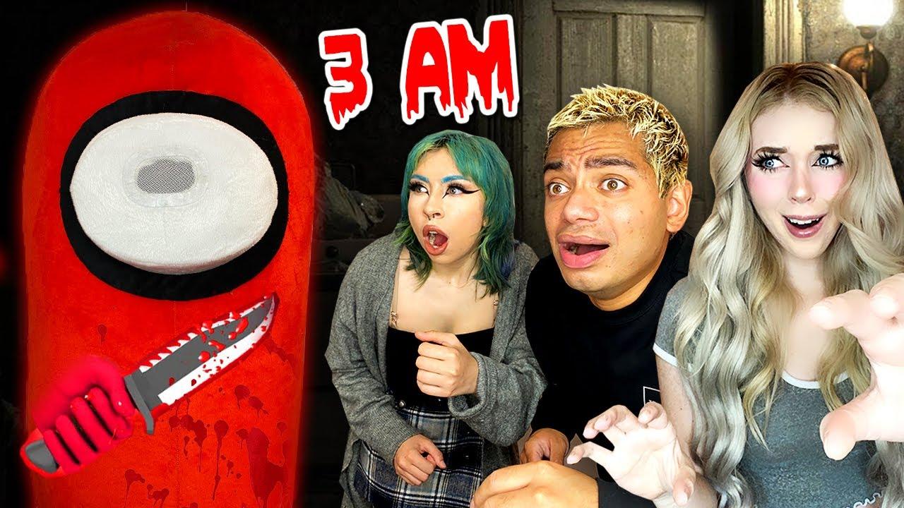 ATTACKED BY IMPOSTOR FROM AMONG US AT 3AM!! part 2