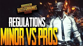 MINOR vs PRO LEAGUE - REGULATIONS WEEK ft. Lights Out, GS, Wildcard, NmE PUBG Mobile