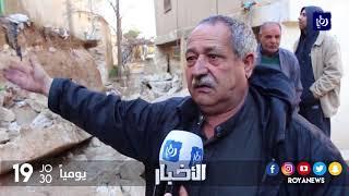 رغم التحذير من خطورته سابقاً .. انهيار جدار استنادي في منطقة القصر - (30-1-2018)
