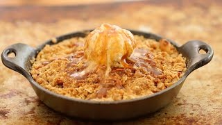 Caramel Apple Crisp with Cinnamon Ice Cream (No Machine) - Gemmas Bigger Bolder Baking Ep. 33