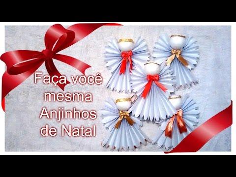 Anjinhos De Papel Para O Natal! Muito Fácil.