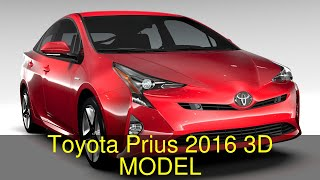 3D Model of Toyota Prius 2016 Review