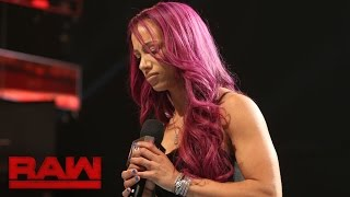 Sasha Banks addresses her back injury: Raw, Sept. 5, 2016