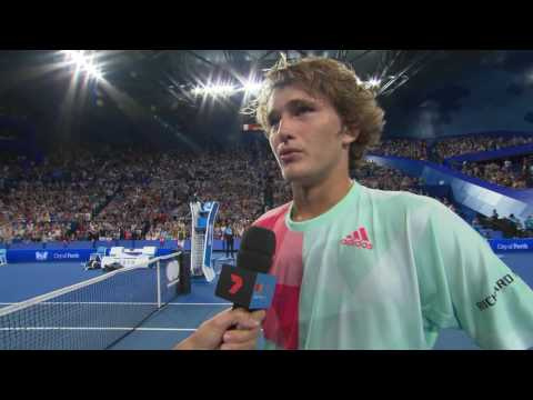 Alexander Zverev on-court interview (RR)