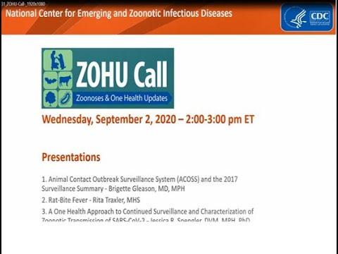 CDC ZOHU Call September 2, 2020
