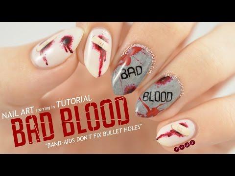 Taylor Swift Bad Blood Nail Art Tutorial