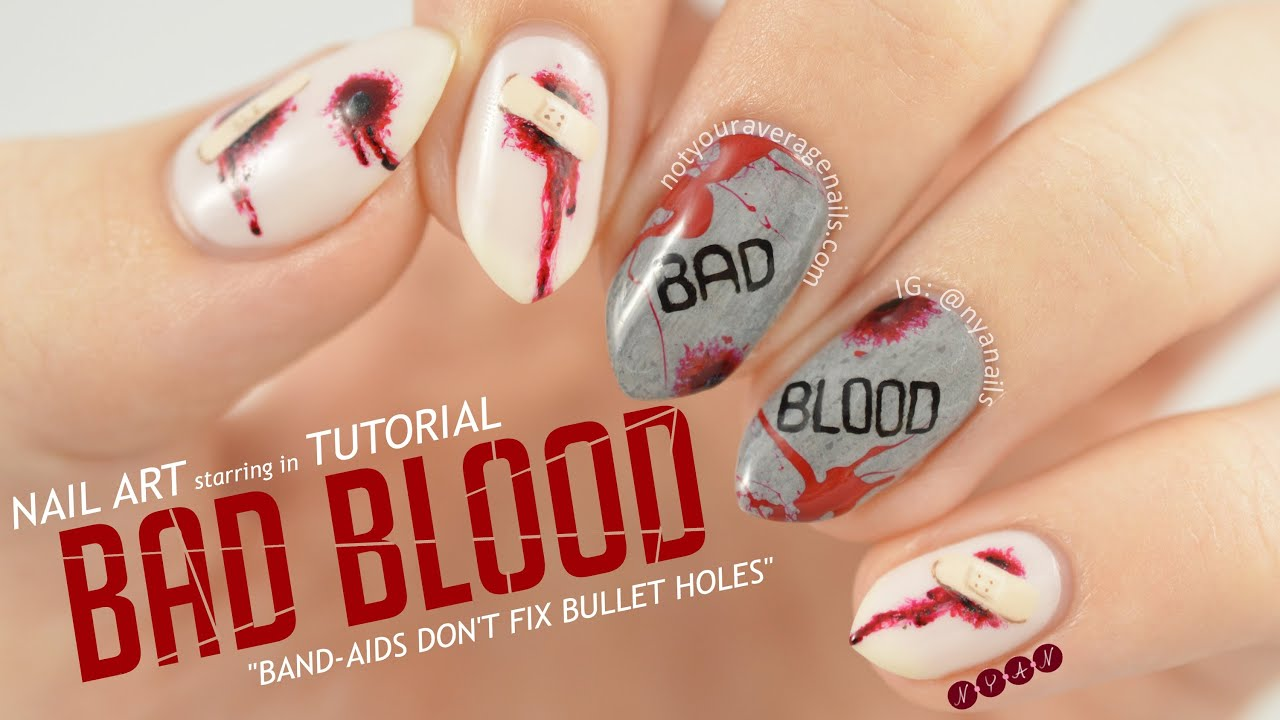 Taylor swift bad blood nail art tutorial youtube prinsesfo Choice Image