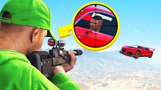 CRAZIEST MID-AIR SNIPER SHOT! (GTA 5 Cars vs Snipers)