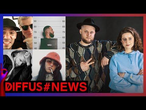 Fatoni als News-Praktikant: Neues von Shindy Juju Capital Bra Tua und Fil Bo Riva  DIFFUS NEWS