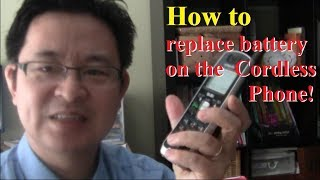How to fix your cordless phone by replacing the battery Easy and Cheap! Save money and environment