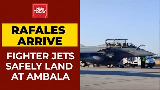 Rafale Fighter Jets Land At IAF Airbase In Ambala | Breaking News