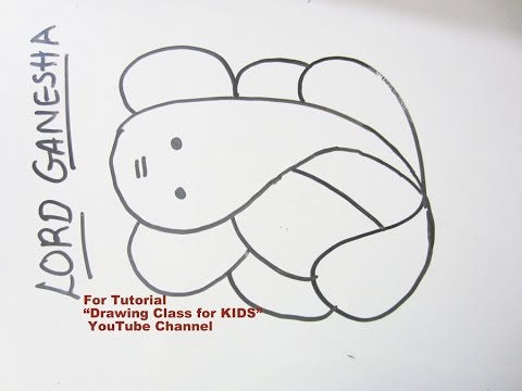 How to draw easy lord ganesha ganpati step by step tutorial for kids