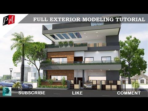 3D Max Full Exterior Modeling tutorial