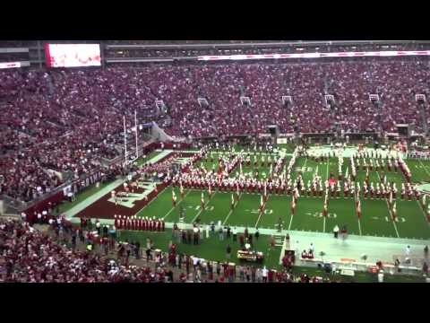 Alabama and Arkansas Take the Field at Bryant-Denny Stadium: 2013