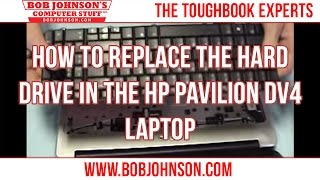 how to replace the hard drive in the hp pavilion dv4 laptop