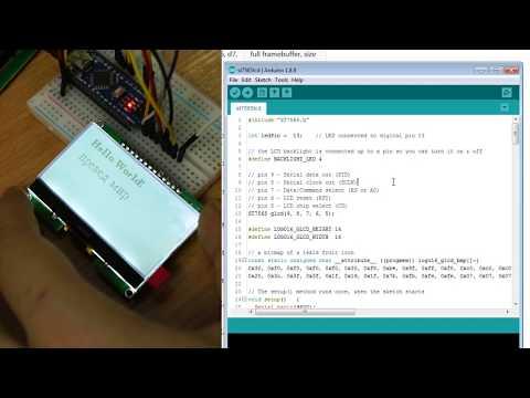 Подключение дисплея GMG12864-06D на ST7565R к Arduino