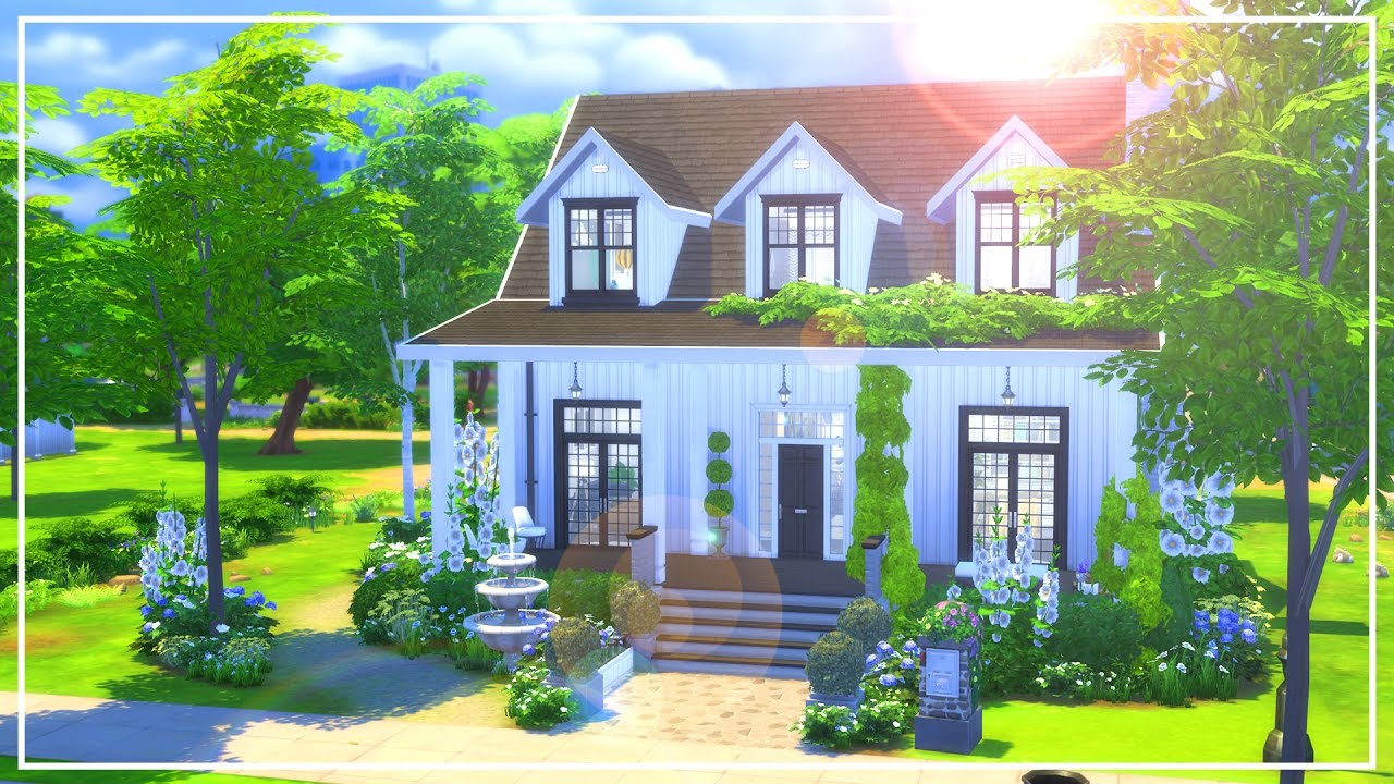 The sims 4 speed build st peters modern farmhouse youtube