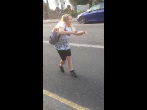 Me dancing in the road lol jks