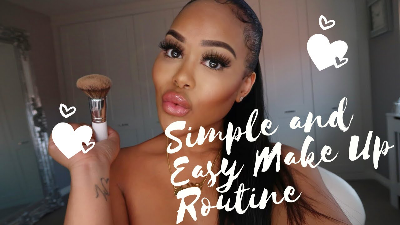 Simple & Easy Make Up Routine   Everyday Glam   GRWM