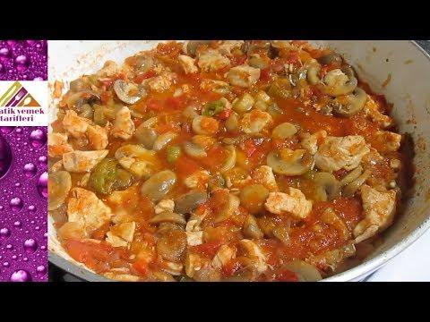 Mantarlı Tavuk Sote Tarifi Pratik Yemek Tarifleri