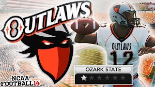 The Worst Team in NCAA 14 History | Ozark State Outlaws Team Builder Dynasty Ep. 1