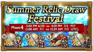 FFRK [Summer Festival] Phase 4 Relic Draw