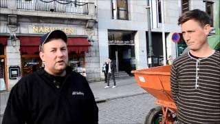 Satte poteter på Karl Johan