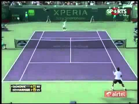 Novak Djokovic vs Somdev Devvarman 3rd Round ATP Sony Open Tennis Miami 2013 Highlights