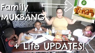 Family Mukbang + Exciting Life UPDATES! | Famous Publix Subs