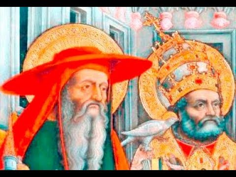 Doctors Of The Church, Saint Jerome And Saint Gregory The Great, Catholic Series