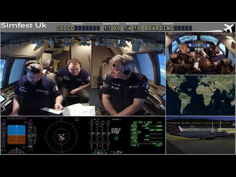 Worldflight 2017: Leg 20 Bogota to Cusco Boeing 747-400 Home Simulator
